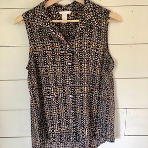 Forever21 Collared Button Down Tank - sz 6